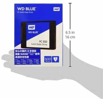 حافظه SSD وسترن دیجیتال BLUE 500GB